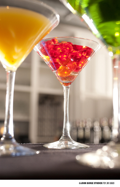 Fancy drinks at Mezzaluna in Fargo, North Dakota : food : JOHN BORGE STUDIOS Fargo North Dakota Photography Advertising, Public Relations