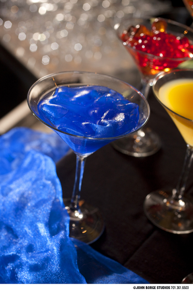 Fancy blue drink : food : JOHN BORGE STUDIOS Fargo North Dakota Photography Advertising, Public Relations