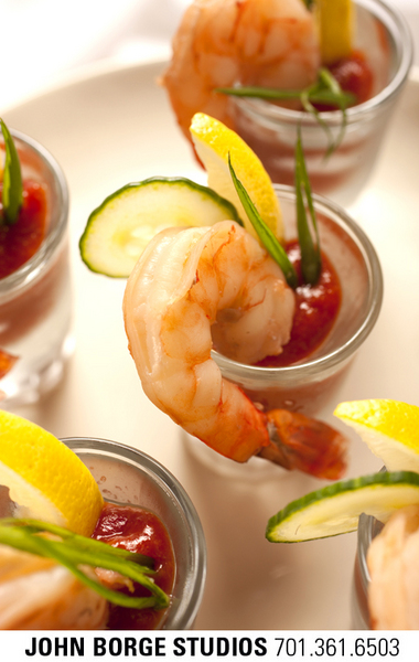 Shrimp cocktail : food : JOHN BORGE STUDIOS Fargo North Dakota Photography Advertising, Public Relations