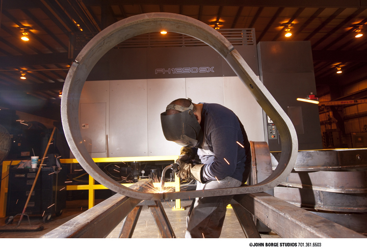 Welding at an Illinois factory : industrial : JOHN BORGE STUDIOS Fargo North Dakota Photography Advertising, Public Relations