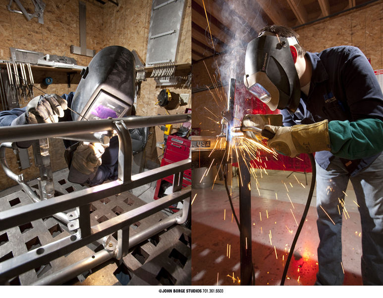 Fabrication on-site in Fargo, North Dakota : industrial : JOHN BORGE STUDIOS Fargo North Dakota Photography Advertising, Public Relations