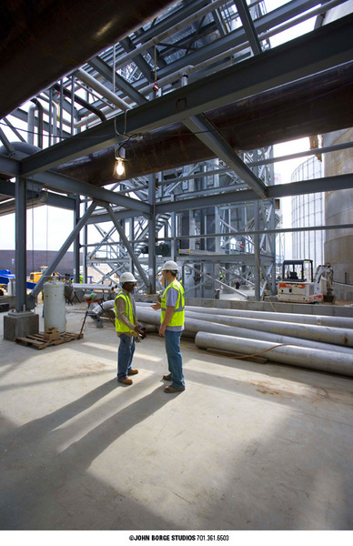 Ethanol plant construction in North Dakota : industrial : JOHN BORGE STUDIOS Fargo North Dakota Photography Advertising, Public Relations