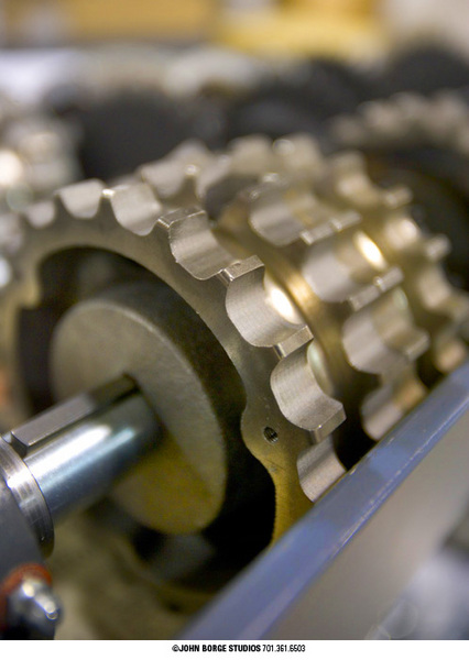 Gears at work : industrial : JOHN BORGE STUDIOS Fargo North Dakota Photography Advertising, Public Relations