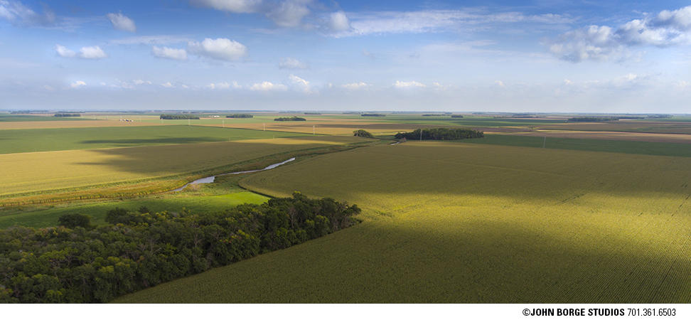 Aerial image made in western Minnesota : agriculture : JOHN BORGE STUDIOS Fargo North Dakota Photography Advertising, Public Relations