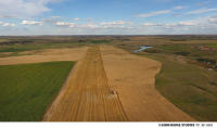 Wheat harvest in western North Dakota - the drone sure comes in handy!