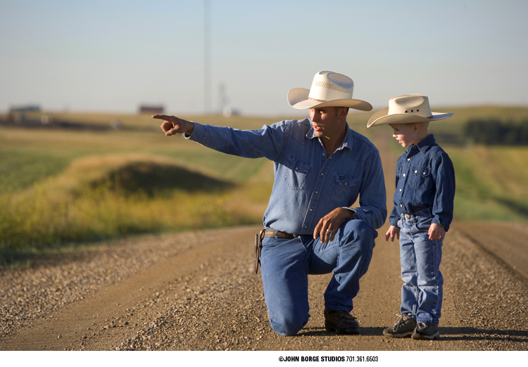Father and son near Bismarck, North Dakota : agriculture : JOHN BORGE STUDIOS Fargo North Dakota Photography Advertising, Public Relations